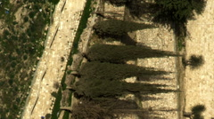 Video of terraced Kidron Valley walls filmed in Israel at 4k with Red. Stock Footage