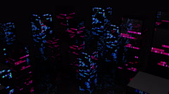 Night City Light Vj Loop 4K 03 - stock footage