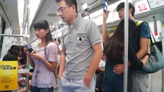 Take the subway, in Shenzhen, China Stock Footage