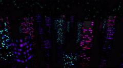 Night Town Light Vj Loops 4K 02 - stock footage