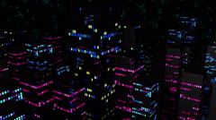 Neon City Light Vj Loop 4K 05 - stock footage