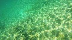 Reflection on the seabed Stock Footage
