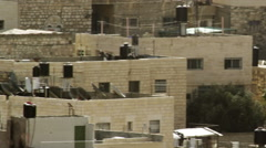 Stock Video Footage of residences in Old Jerusalem filmed in Israel at 4k with