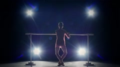 Stock Video Footage of elegance ballerina near the barre. smoke. slow motion
