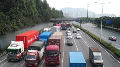 Shenzhen Moon Bay Road Traffic landscape, in China Stock Footage