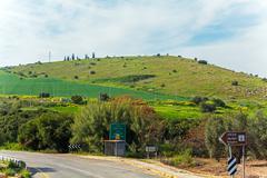 Landscape around Galilee Sea - Kinneret Lake Stock Photos