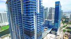 Aerial video Brickell CIty Center 6 - stock footage