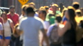 Unrecognizable pedestrians anonymous people walking crowd slow motion NYC Footage