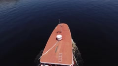 Stock Video Footage of Aerial View of Boat on Amazon River, Manaus, Brazil