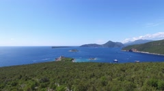 Island of Mamula fortress, the entrance to the Boka Kotorska bay, Montenegro - stock footage