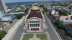 The Amazon Theatre, Manaus, Amazon, Brazil Stock Footage