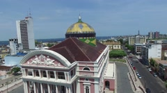 The Amazon Theatre, Manaus, Amazon, Brazil Stock Footage