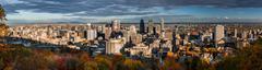Montreal panorama - stock photo
