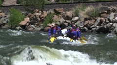 Rafting in fast water Stock Footage