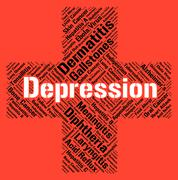 Stock Illustration of Depression Word Indicates Lost Hope And Affliction