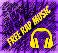 Stock Illustration of Free Rap Music Means No Cost And Complimentary