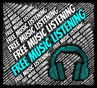 Free Music Listening Shows Sound Tracks And Gratis Stock Illustration