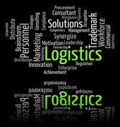 Logistics Word Represents Systemization Words And Analyze Stock Illustration
