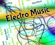 Electro Music Represents Sound Tracks And Funk - stock illustration