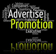 Stock Illustration of Promotion Word Indicates Promotional Discounts And Discount