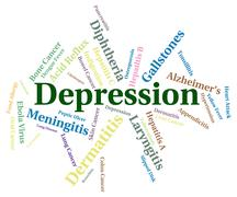 Stock Illustration of Depression Word Represents Poor Health And Affliction