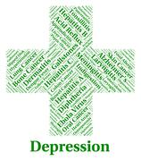 Depression Word Represents Lost Hope And Affliction Stock Illustration