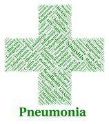 Stock Illustration of Pneumonia Illness Represents Poor Health And Ailment