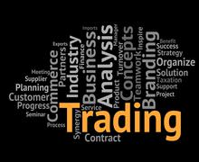 Stock Illustration of Trading Word Represents Text Selling And Business