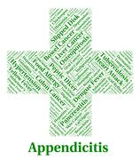 Stock Illustration of Appendicitis Illness Represents Poor Health And Ailment