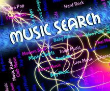 Stock Illustration of Music Search Means Melodies Exploration And Acoustic