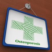 Osteoporosis Word Indicates Poor Health And Affliction Stock Illustration