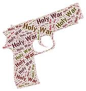 Holy War Represents Military Action And Battle Piirros