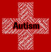 Stock Illustration of Autism Word Represents Ill Health And Ailment