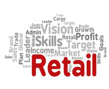 Stock Illustration of Retail Word Represents Market Marketing And Retailing