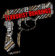 Terrorist Bombings Represents Freedom Fighter And Assassin - stock illustration