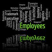 Employees Word Shows Member Of Staff And Hireling - stock illustration