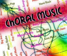 Choral Music Indicates Sound Track And Audio Stock Illustration