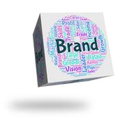 Stock Illustration of Brand Word Means Company Identity And Branded