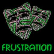 Frustration Word Means Frustrating Vexed And Angered - stock illustration