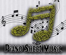 Stock Illustration of Piano Sheet Music Means Sound Tracks And Harmony