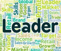 Leader Word Represents Manage Led And Authority - stock illustration