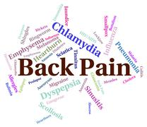 Back Pain Means Poor Health And Affliction Stock Illustration