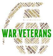 War Veterans Shows Armed Forces And Bloodshed Stock Illustration