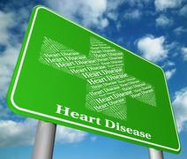 Heart Disease Indicates Ill Health And Chf Stock Illustration