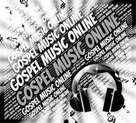 Gospel Music Online Means Christ's Teaching And Christian Stock Illustration