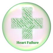 Heart Failure Shows Ailments Hf And Attack - stock illustration