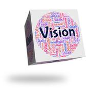 Vision Word Means Plan Future And Prediction Stock Illustration
