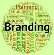 Stock Illustration of Branding Word Indicates Company Identity And Branded
