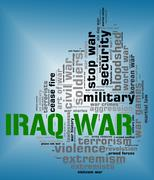 Stock Illustration of Iraq War Indicates Military Action And Republic