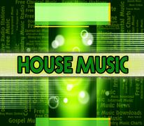 Stock Illustration of House Music Shows Sound Tracks And Harmony